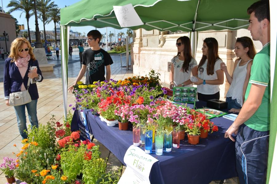 Estudiantes De Agrónomos Venden Plantas Para Recaudar Fondos En La Semana De La Flor
