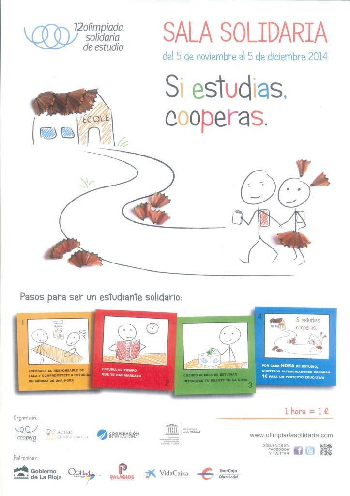 Cartel Olimpiada Solidaria de Estudio